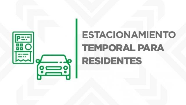 Estacionamiento temporal para residentes