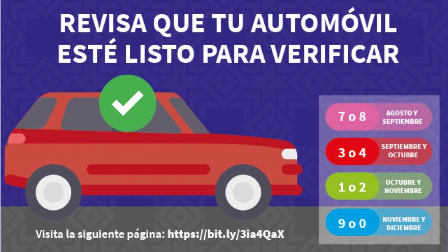 Revisión de estatus de vehículo para verificación