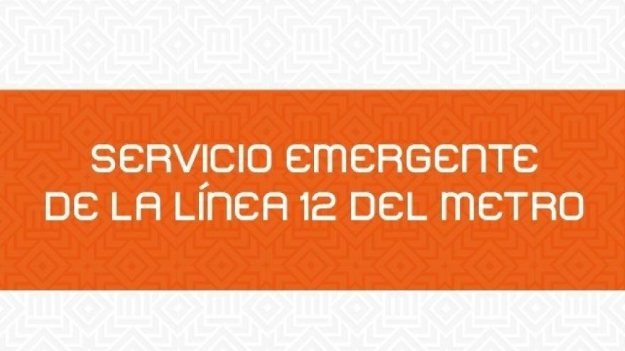 Servicio Emergente Línea 12 del Metro