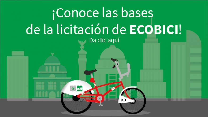 Consulta las bases de la licitación de ECOBICI